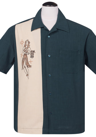 Mai Tai Mirage Button Up in Black
