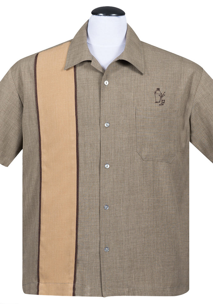 The Palm Springs Cocktail Button Up in Olive