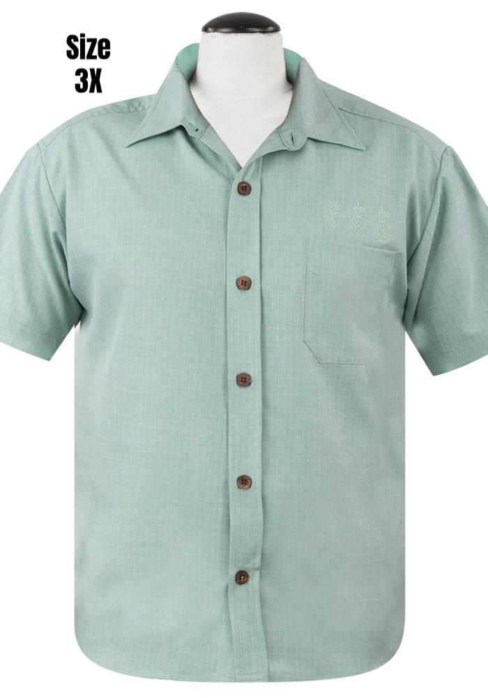Pineapple Mixer Button Up in Mint