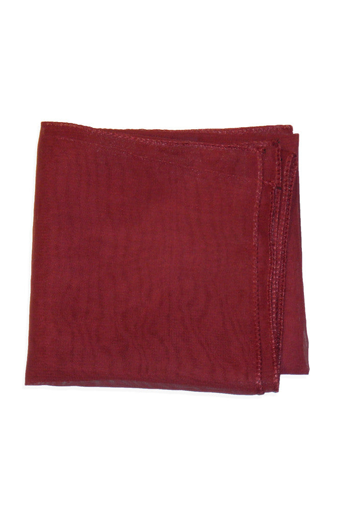 50's Style Retro Neck & Hair Scarf - Burgundy