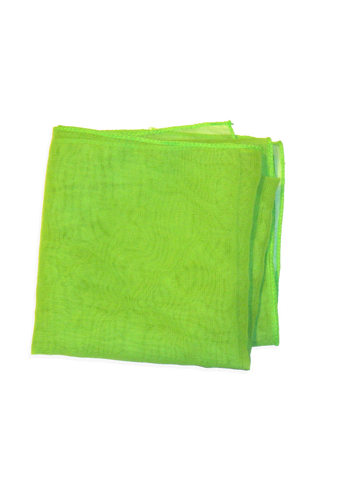 50's Style Retro Neck & Hair Scarf - Lime Green