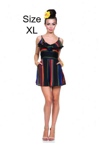 Adelyn Rainbow Serape Ruffle Dress