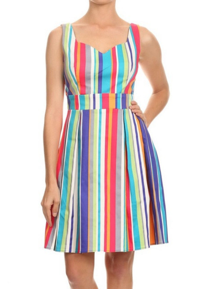 Fiesta Stripes Skater Dress