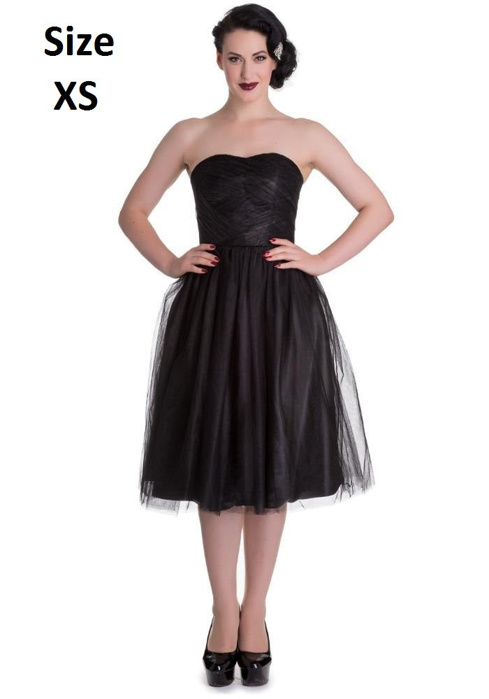 """Final Sale"" Tamara 1950s Holiday Dress in Black"
