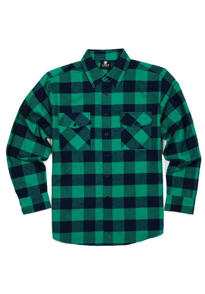 Men's Plaid Flannel Shirt in Turquoise