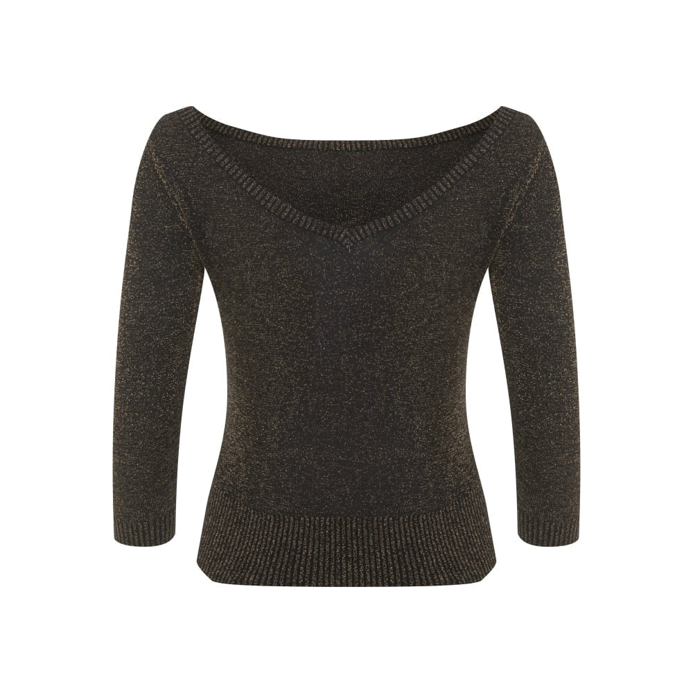 """Final Sale"" Bardot Boat Neck Lurex Sweater"
