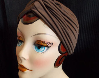 """Final Sale"" Vintage Style Turbans, Brown"