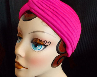 """Final Sale"" Vintage Style Turban, Pink"