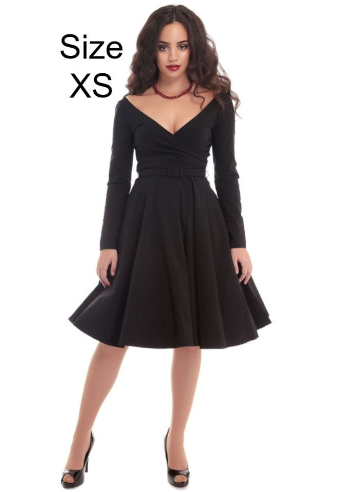 """Final Sale"" Nicky Doll Swing Dress in Black"