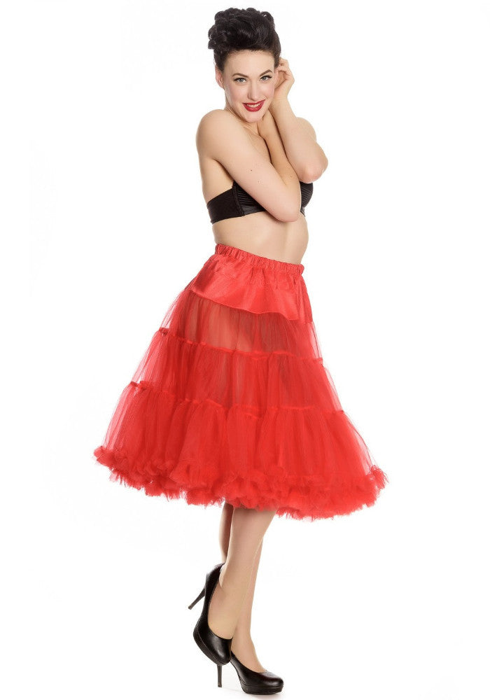 Red 50's Style Long Petticoat
