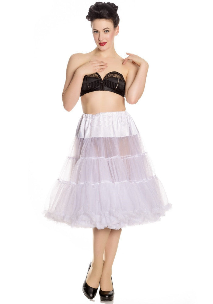 White 50's Style Long Petticoat