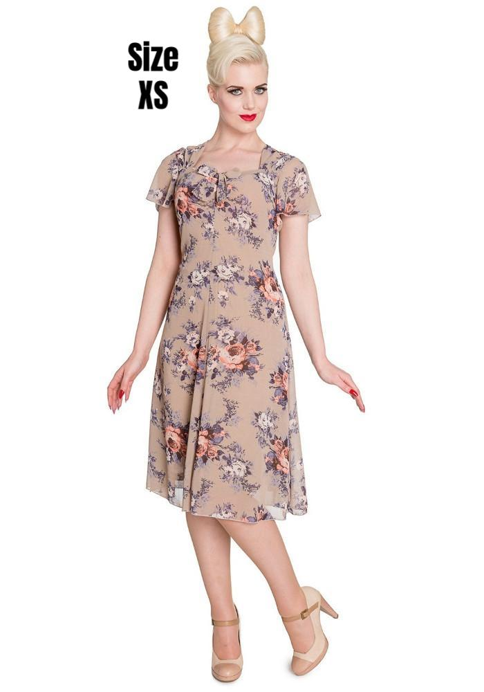 """Final Sale"" Holly Floral 40s Style Dress"