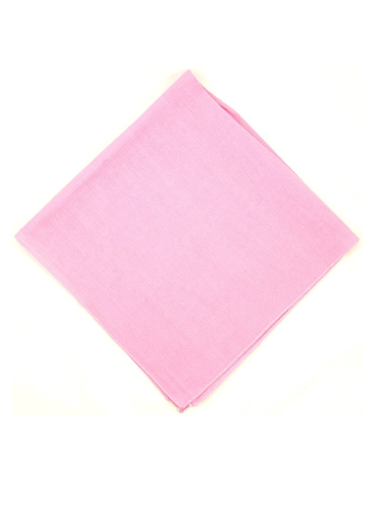 """Final Sale"" Solid Pink Bandanna"