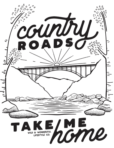 Country roads coloring pages
