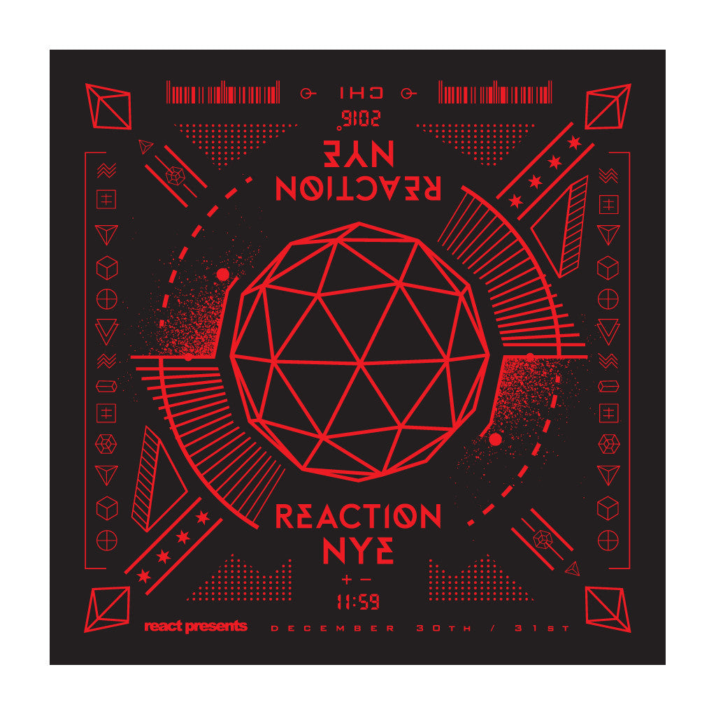 2016 Bandana Black/Red - REACTION NYE