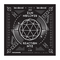 2016 Bandana Black/White - REACTION NYE