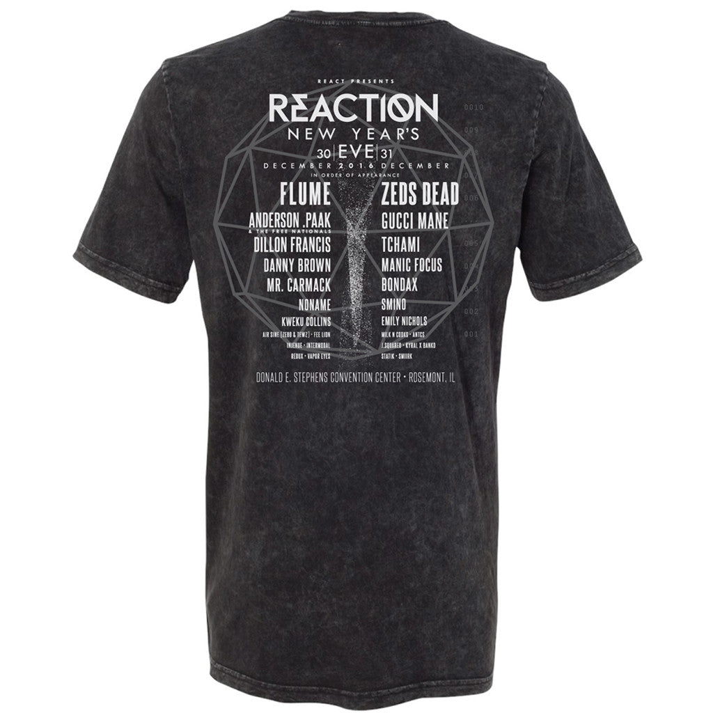 2016 Event Tee Black Mineral Wash - REACTION NYE