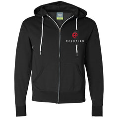 Hoodie Zip-Up Black Unisex - REACTION NYE