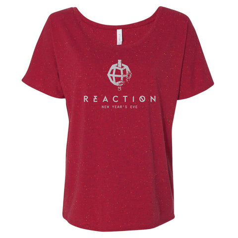 2016 Ladies Slouchy Tee w/ Silver Foil - REACTION NYE