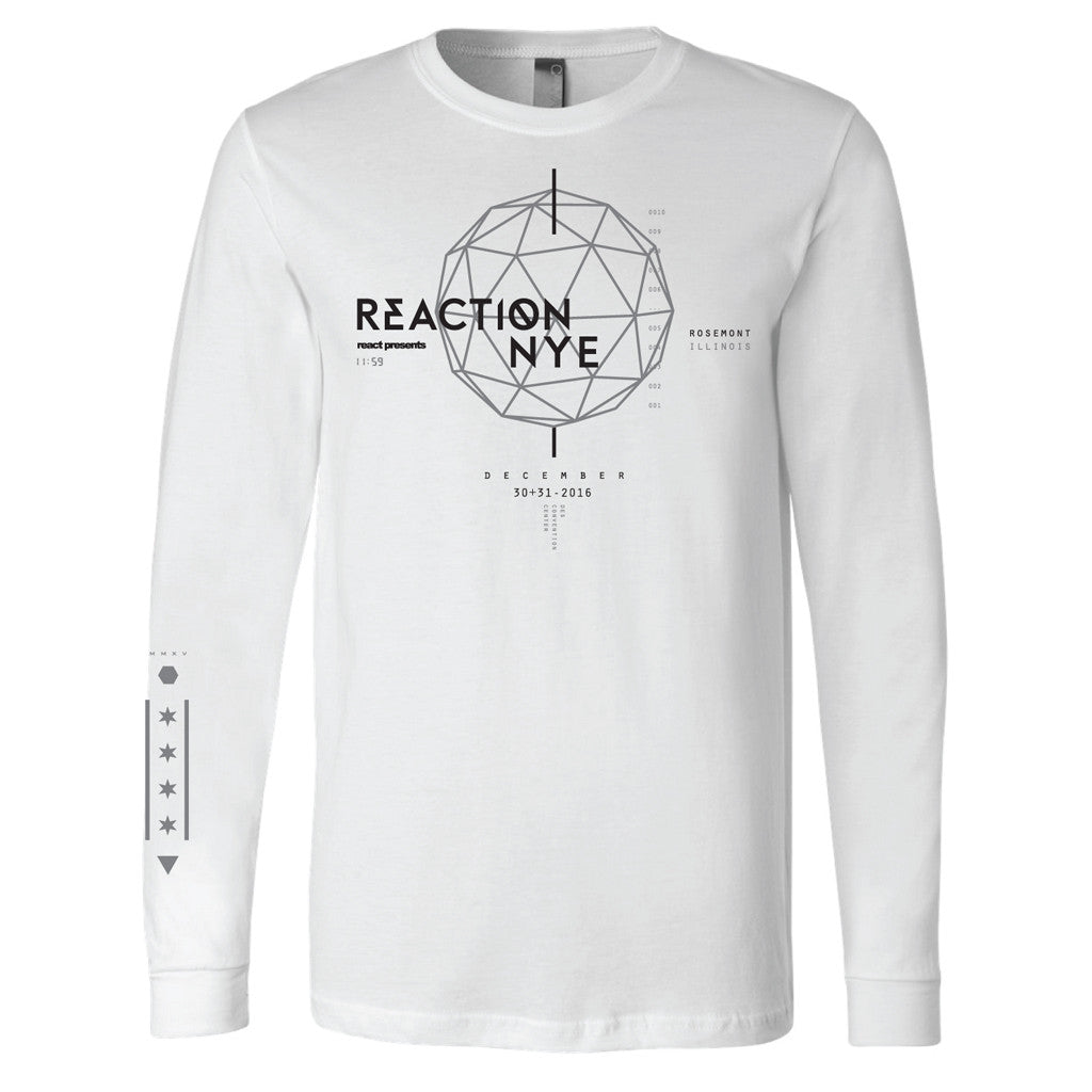 2016 Event Long Sleeve Shirt White - REACTION NYE