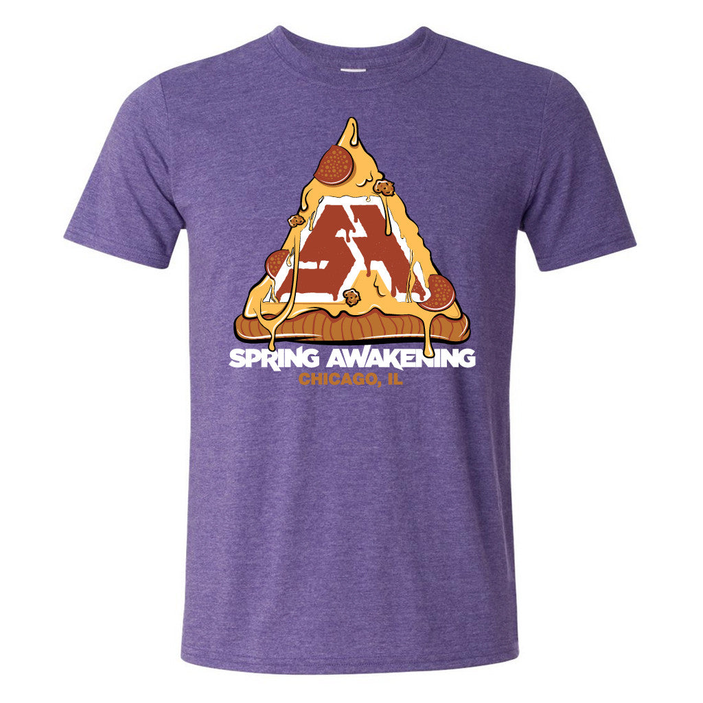 SA PIZZA TEE PURPLE SPRING AWAKENING