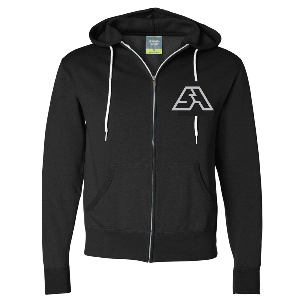SA Hooded Full-Zip Black Unisex Sweatshirt - SPRING AWAKENING