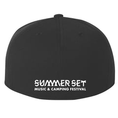 SUMMER SET SKULL LOGO FITTED HAT