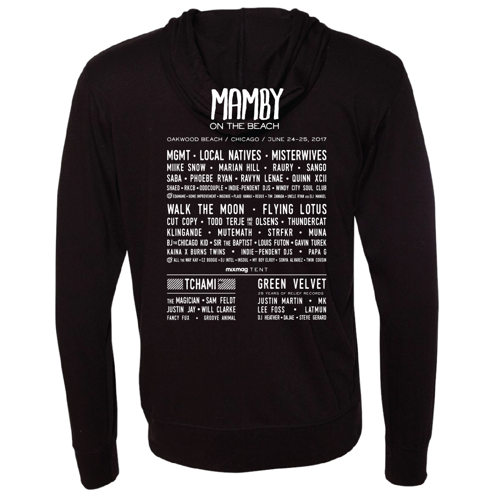 Hoodie ZipUp - Black Mamby 2017 Official Merch