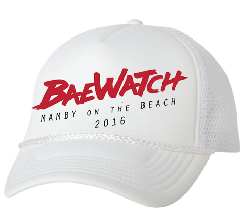 BaeWatch Trucker hat Mamby 2016