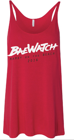 BaeWatch Red strap tank Mamby 2016
