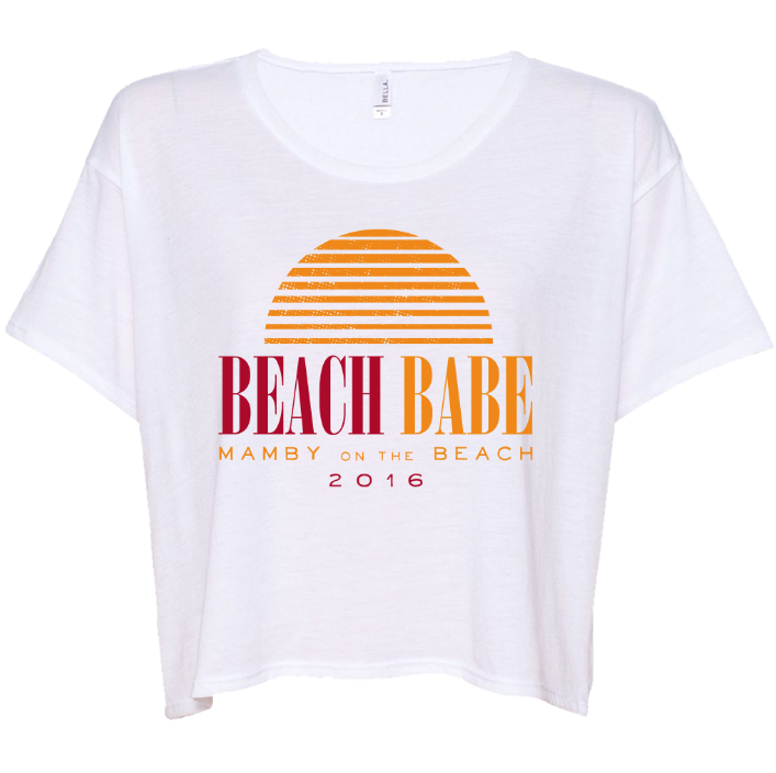 Beach Babe White Flowy Crop Top - Mamby 2016