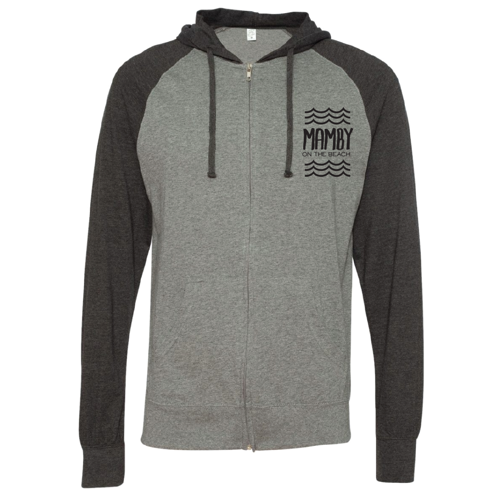 Hoodie ZipUp Grey Heather Mamby 2017 Official Merch