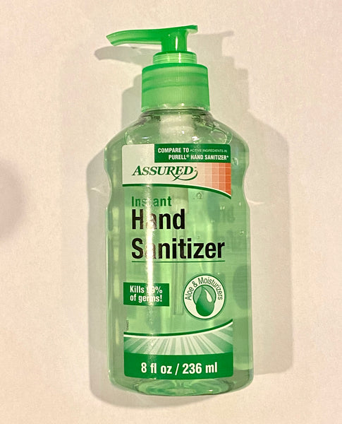 Assured Instant Hand Soap Aloe 8 oz. Kills 99% of germs New