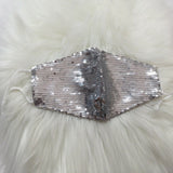 ✨Silver Sequin Mask✨Holiday ⭐Essential Mask 😷 Reusable w|Filter