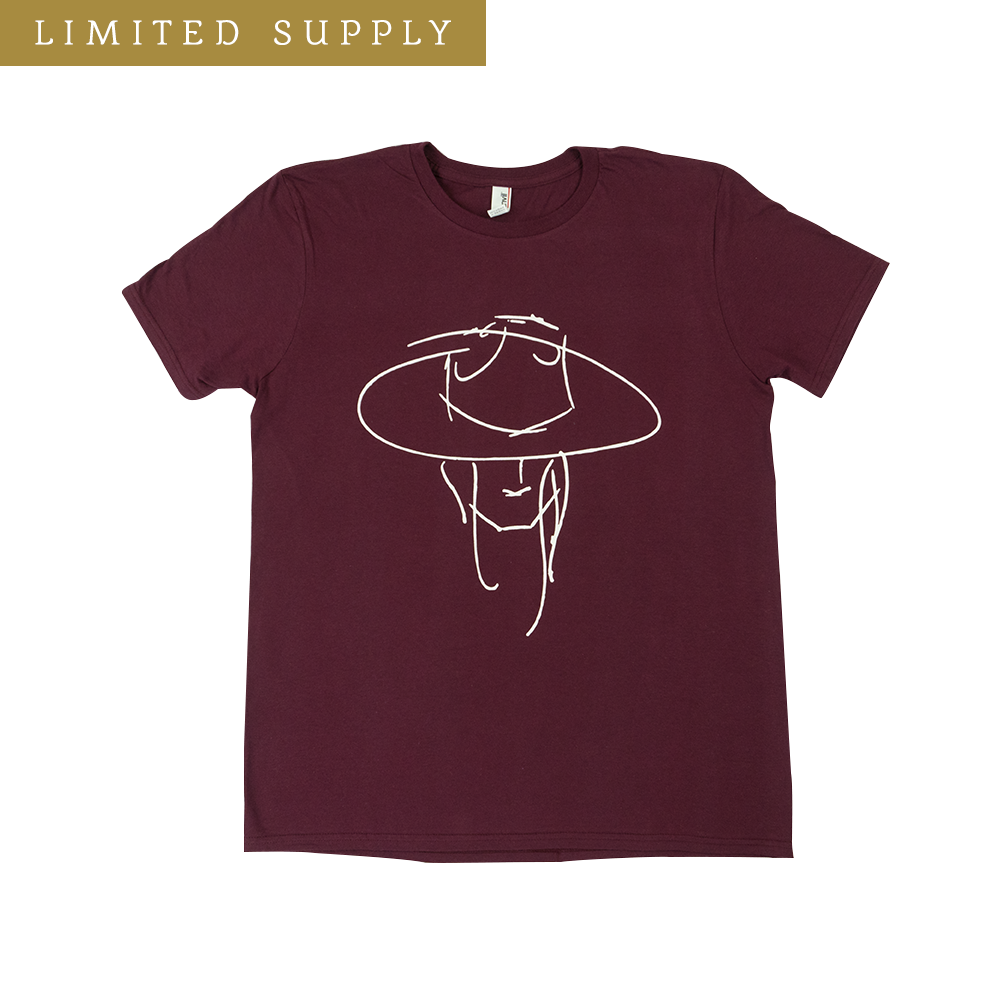 Hat Man Fall Maroon T-Shirt