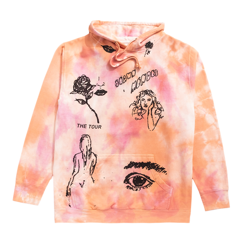 THE TOUR SKETCH II TIE DYE HOODIE