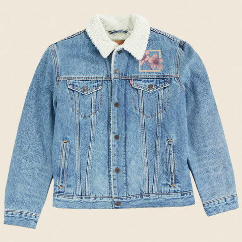 WINTER FLORAL DENIM JACKET