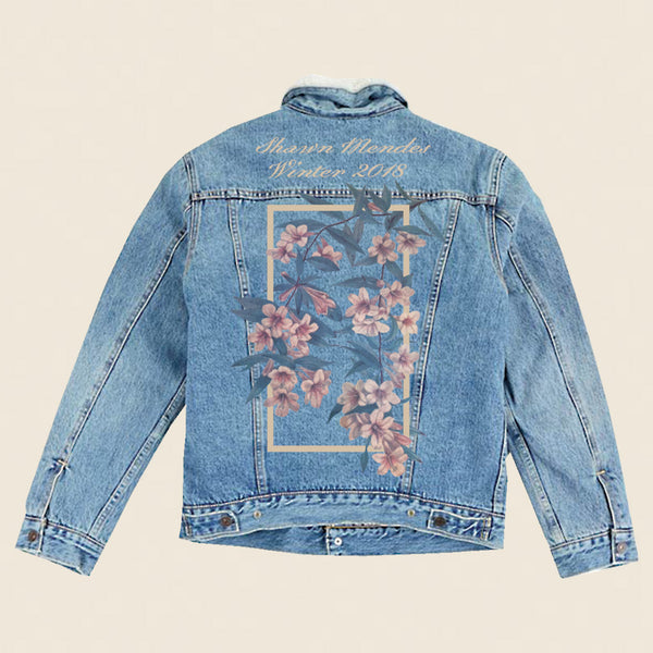 WINTER FLORAL DENIM JACKET Shawn Mendes Official Store