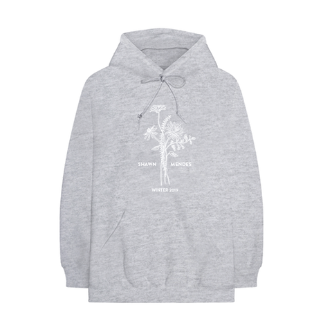 WINTER FLORAL 02 EMBROIDERED HOODIE
