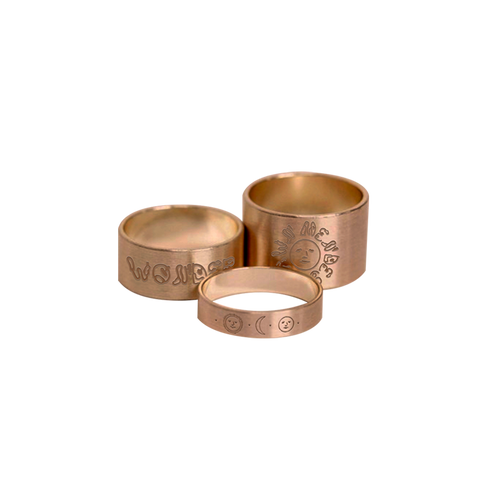 WONDER BRASS RING SET