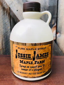 Quart Jessie James Maple Syrup Grade A Amber