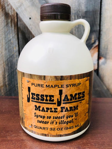 Quart Jessie James Maple Syrup Grade A Dark