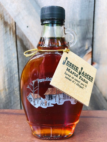Half Pint Glass Jessie James Maple Syrup Grade A Dark