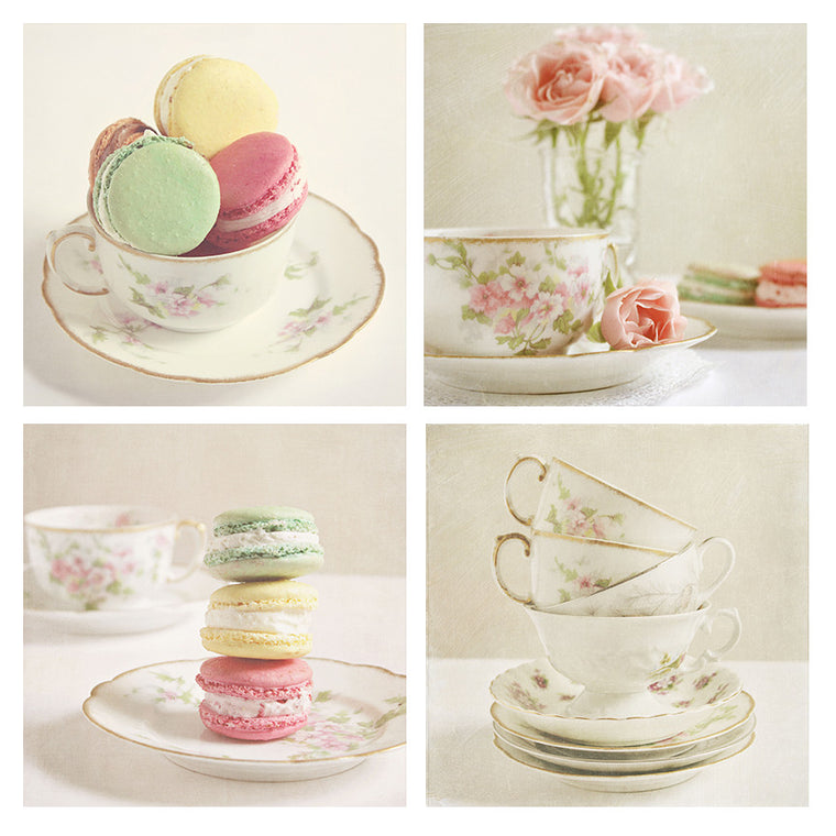 Afternoon Tea Set of 4 Prints - Kelly*N Photography - 1