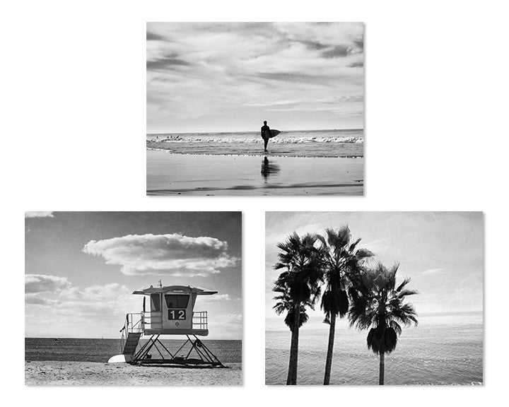 Black and white beach print set of 3 kellyn photography 1