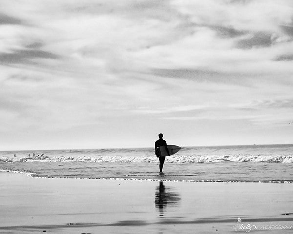 BW Surfer- Beach Photography - Kelly*N Photography - 1