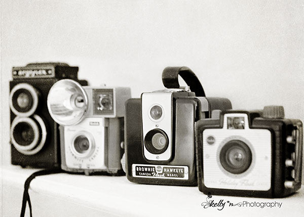 Camera Line Up- Camera Still Life Print - Kelly*N Photography - 1