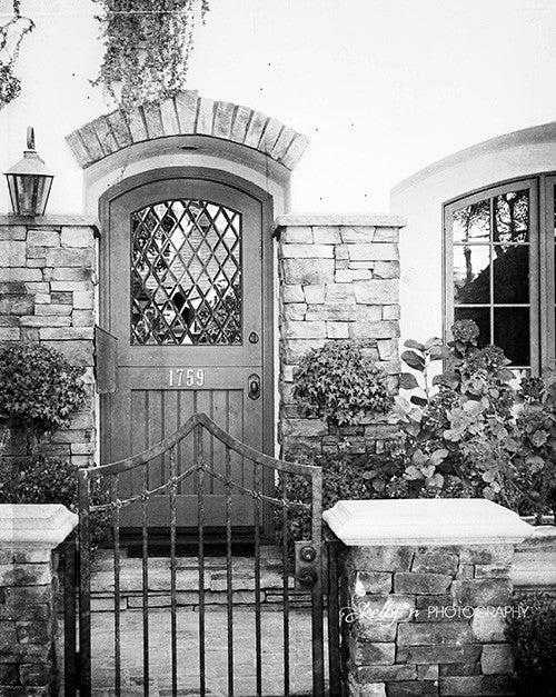 Euro Style - B&W Door Photograph - Kelly*N Photography - 1