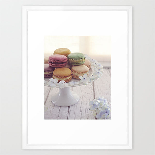 Floral Macaron Plate- Floral Still Life Print - Kelly*N Photography - 2