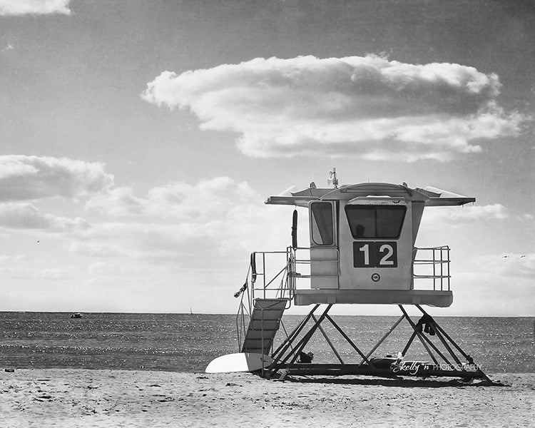 Black And White Beach Print Set Of 3 Kellyn Photography
